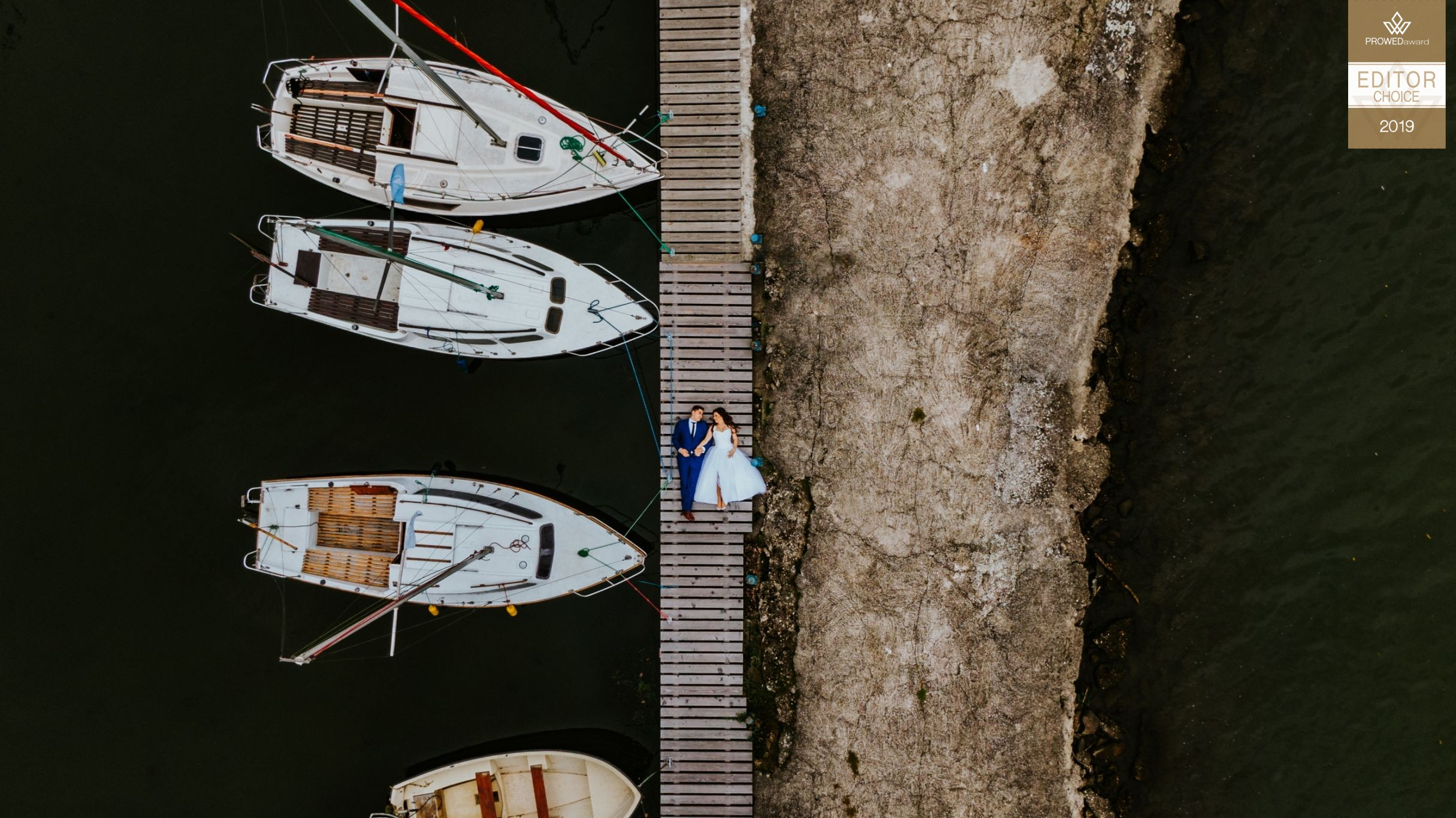 Sesja Ślubna z drona Port Wisła - Fotograf ślubny Śląsk